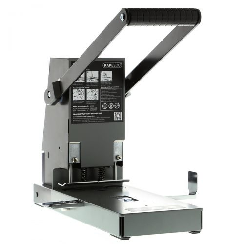 Rapesco 2160 Punch Heavy-duty 2-Hole with Lockable Gauge and Compressor Capacity 300x 80gsm Ref 2160