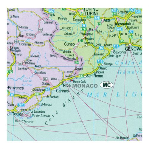 Image for Map Marketing Europa Political Map Unframed 64 Miles to 1 inch Scale W1090xH930mm Ref EUR