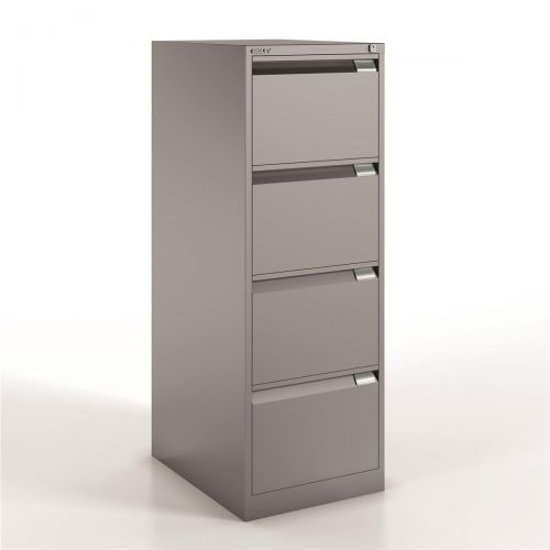 Bisley Filing Cabinet 4 Drawer 470x622x1321mm Goose Grey Ref 1643-av4