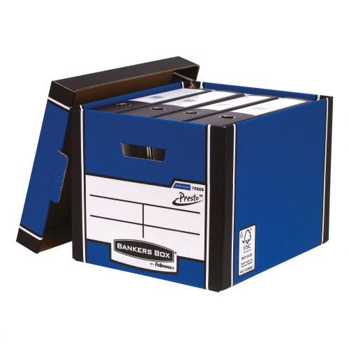 Bankers Box Premium Storage Box Tall Blue FSC Ref 7260603 [Pack 12] [x2 & FREE Lever Arch] Oct-Dec 2018
