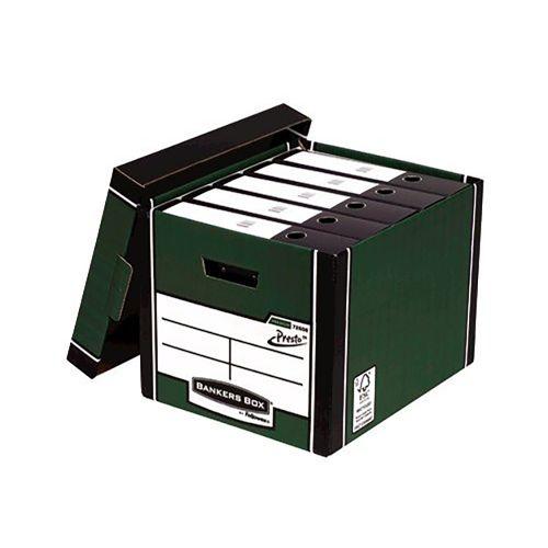 Bankers Box Premium Storage Box Tall Green FSC Ref 7260803 [Pack 12] [x2 & FREE Lever Arch] Oct-Dec 2018