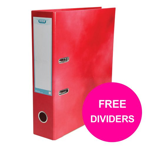 Elba Classy Lever Arch File 70mm Spine A4+ Red Ref 400021004_XX1220 [Pack 10] [FREE Dividers] Jan 12/20