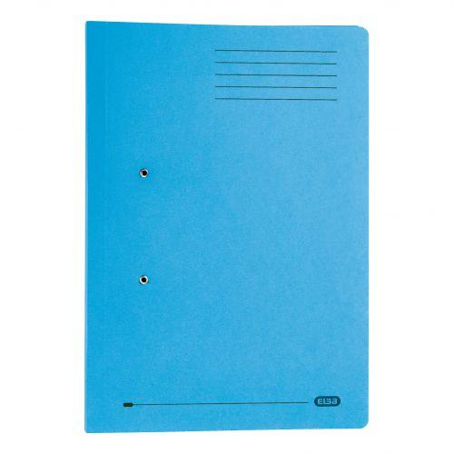 Elba Strongline Transfer Spring File Recycled Pocket 320gsm 36mm Foolscap Blue Ref 100090146 [Pack 25]