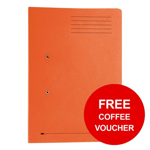 Elba StrongLine Transfer Spring File Recycled 320gsm Foolscap Orange Ref 100090148 [Pack 25]