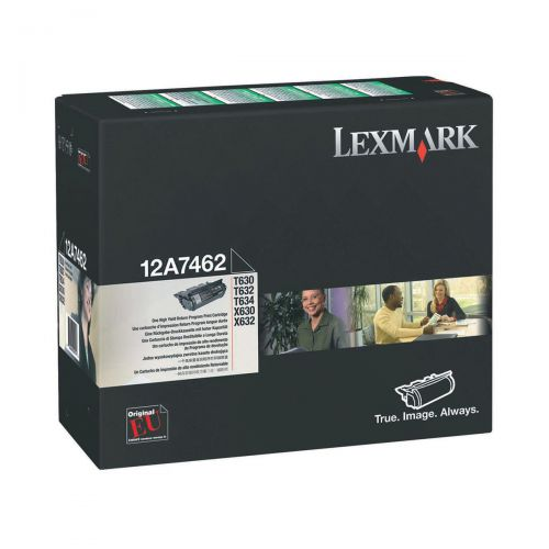 Lexmark Laser Toner Cartridge Return Program Page Life 21000pp Black Ref 12A7462