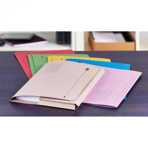 Elba Document Wallet Full Flap 285gsm Capacity 32mm Foolscap Red Ref 100090257 [Pack 50]