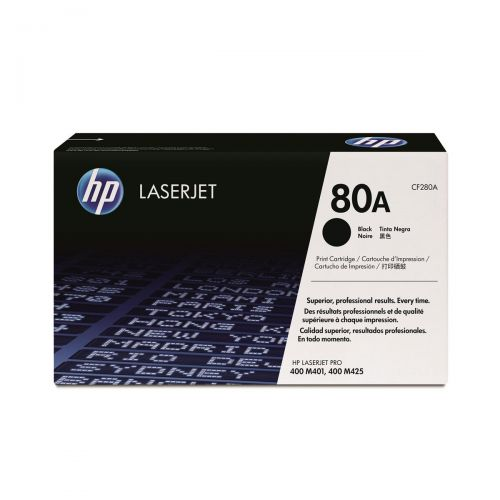HP 80A Laser Toner Cartridge Page Life 2700pp Black Ref CF280A