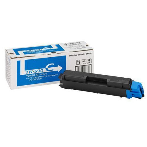Kyocera TK-590C Laser Toner Cartridge Page Life 5000pp Cyan Ref 1T02KVCNL0