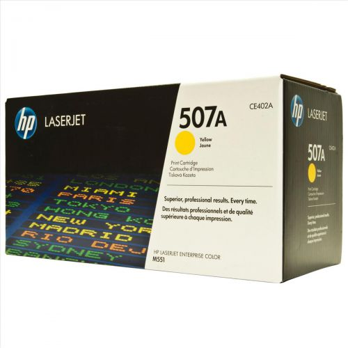 HP 507A Laser Toner Cartridge Page Life 6000pp Yellow Ref CE402A