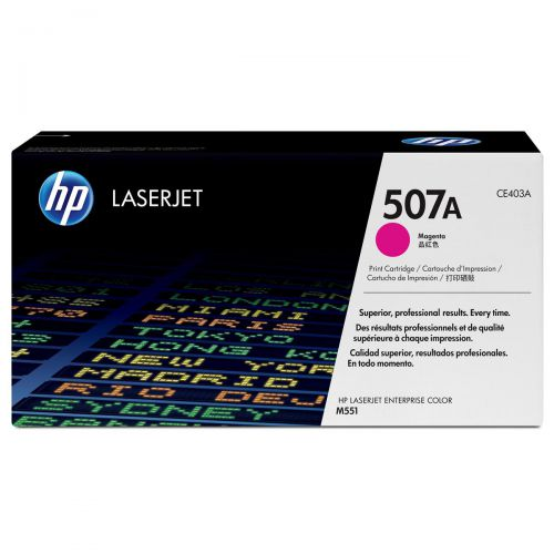 HP 507A Laser Toner Cartridge Page Life 6000pp Magenta Ref CE403A