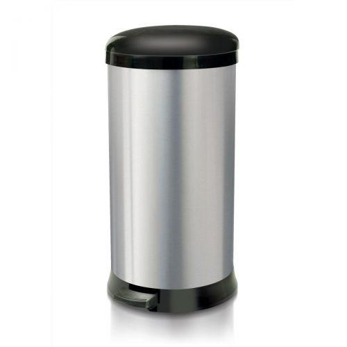 Addis Pedal Bin Cushion Close 30 Litre Stainless Steel Ref 507650