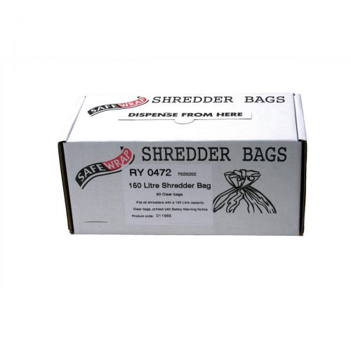 Robinson Young Safewrap Shredder Bags 150 Litre Ref RY0472 [Pack 50]
