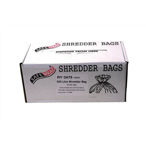 Robinson Young Safewrap Shredder Bags 200 Litre Ref RY0473 [Pack 50]