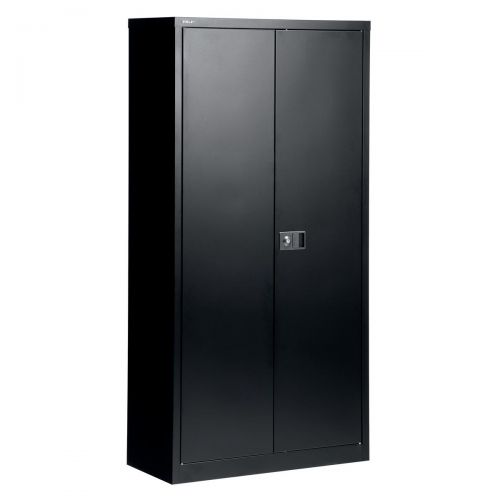 &TREXUS CUPBOARD 72IN BLACK 2 DOOR