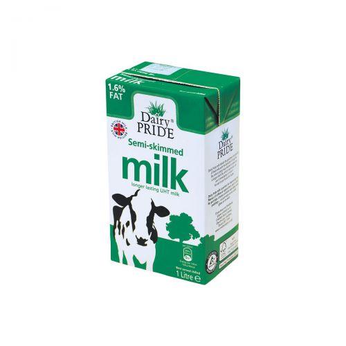 Viva Semi-Skimmed Longlife Milk 1L Pk12