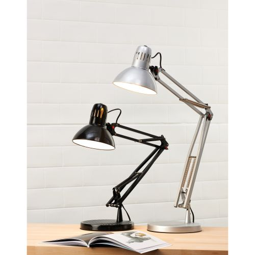 Desk Lamp Swing Arm 60W Maximum Height of 740mm Base Size of 215x215x35mm Black