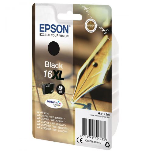 Epson 16XL Inkjet Cartridge Pen & Crossword HY Page Life 500pp 12.9ml Black Ref C13T16314012