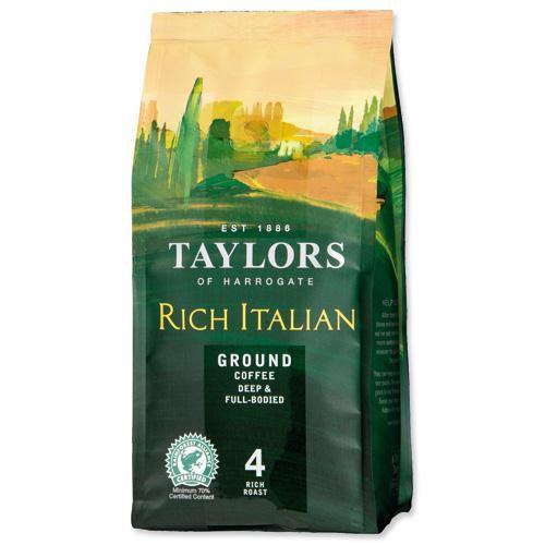 Taylors of Harrogate Rich Italian Coffee Roast & Ground Dark Roast 227g Ref A07660