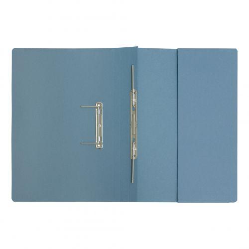 5 Star Elite Transfer Spring Pocket File Super Heavyweight 380gsm Foolscap Blue [Pack 25]