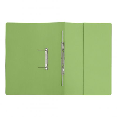 5 Star Elite Transfer Spring Pocket File Super Heavyweight 380gsm Foolscap Green [Pack 25]