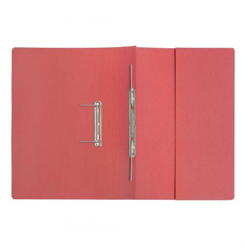 5 Star Elite Transfer Spring Pocket File Super Heavyweight 380gsm Foolscap Red [Pack 25]