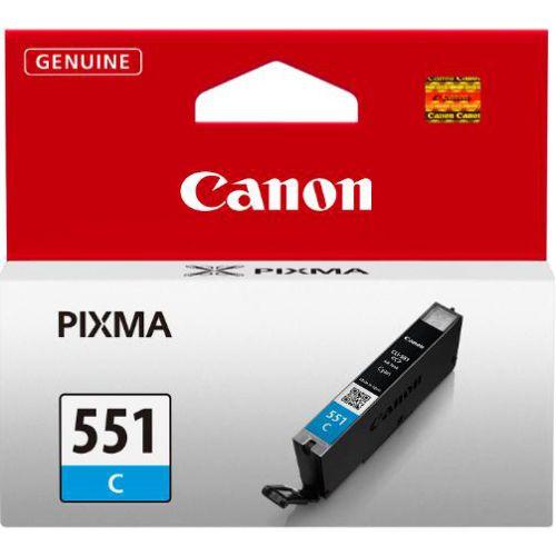 Canon CLI-551C Inkjet Cartridge Page Life 298pp 7ml Cyan Ref 6509B001