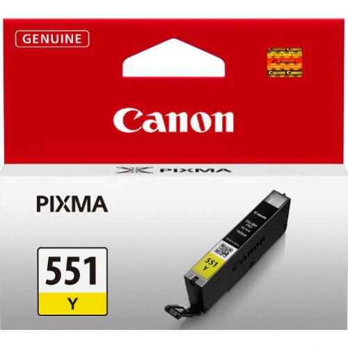 Canon CLI-551Y Inkjet Cartridge Page Life 330pp 7ml Yellow Ref 6511B001