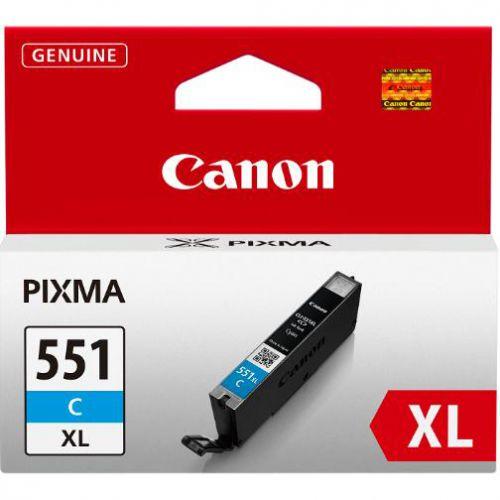 Canon CLI-551C XL Inkjet Cartridge 11ml Page Life 665pp Cyan Ref 6444B001