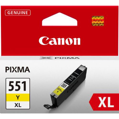 Canon CLI-551Y XL Inkjet Cartridge 11ml Page Life 685pp Yellow Ref 6446B001