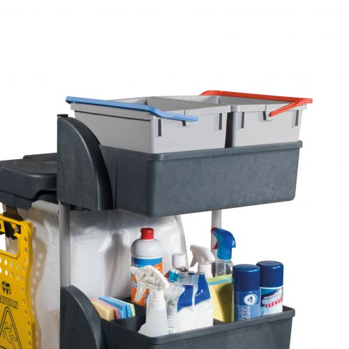 Numatic Xtra Compact XC3 Cleaning Trolley with 2 Buckets and 2 Tray Units W570xD840xH1060mm Ref 906249