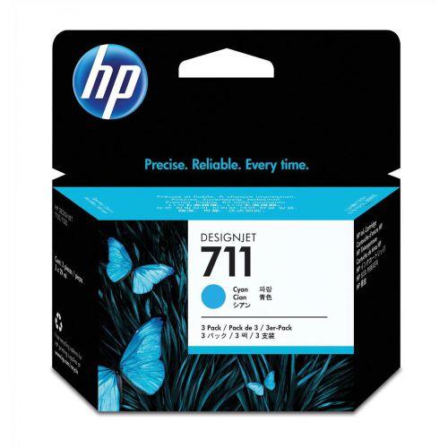 Hewlett Packard [HP] No.711 Inkjet Cartridge 29ml Cyan Ref CZ134A [Pack 3]
