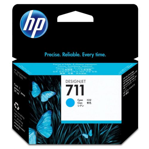 Hewlett Packard [HP] No.711 Inkjet Cartridge 29ml Cyan Ref CZ134A [Pack 3]