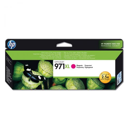 Hewlett Packard [HP] No.971XL Inkjet Cartridge High Yield Page Life 6600pp 80.5ml Magenta Ref CN627AE