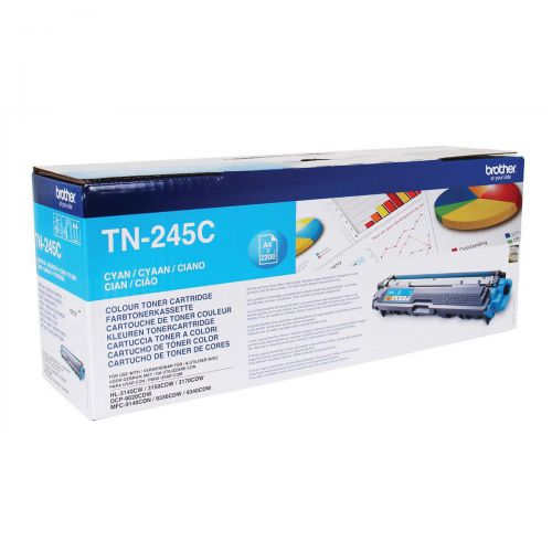 Brother Laser Toner Cartridge High Yield Page Life 2200pp Cyan Ref TN245C