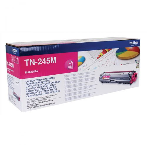 Brother Laser Toner Cartridge High Yield Page Life 2200pp Magenta Ref TN245M
