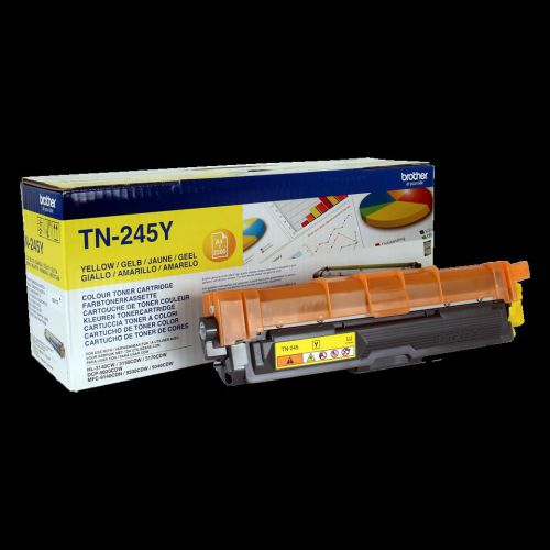 Brother Laser Toner Cartridge High Yield Page Life 2200pp Yellow Ref TN245Y