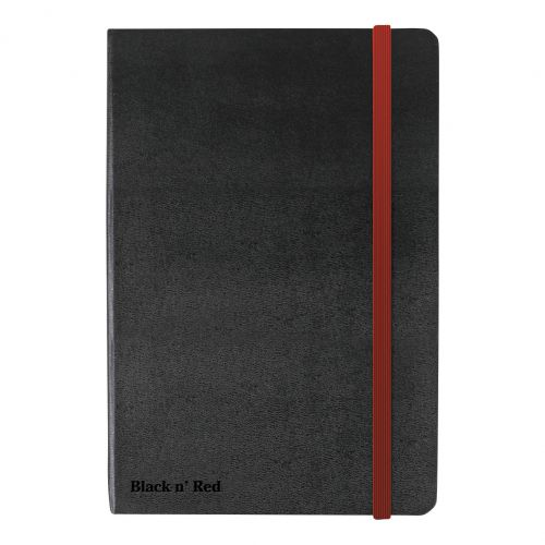Black By Black n Red Business Journal Hard Cover Ruled and Numbered 144pp A6 Ref 400033672