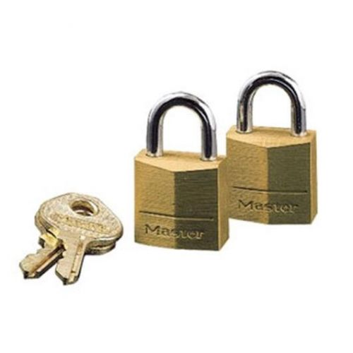 Masterlock Padlock Brass 20mm Ref 120D [Pack 2]