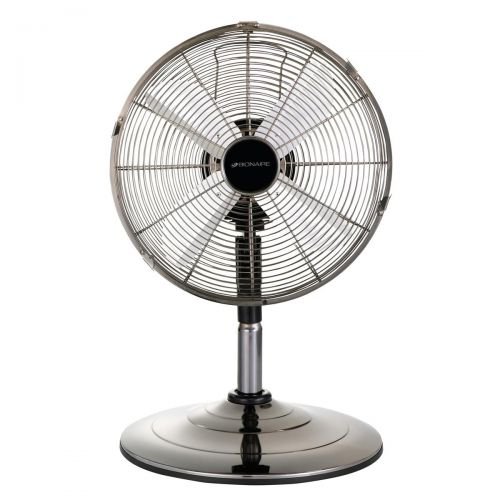 Desk and Pedestal Fan 13 Inch 2 in 1 Adjustable Height 90deg Oscillation with Manual Tilt 3-Speed Silver