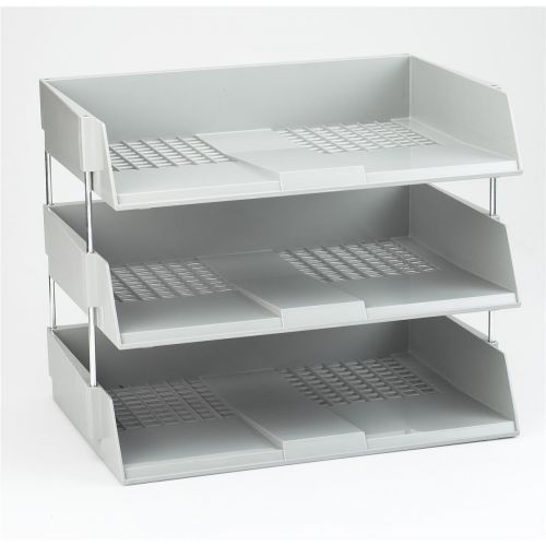 Avery Wide Entry Filing Tray W367xD254xH63mm Light Grey Ref W44LGRY