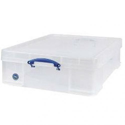 Really Useful Storage Box Plastic Lightweight Robust Stackable 70 Litre W620xD810xH225mm Clear Ref 70C