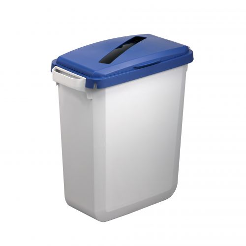 Durable Durabin Hinged Lid for Recycling Paper for 60 Litre Bin 515x285x700mm Blue Ref 1800502040