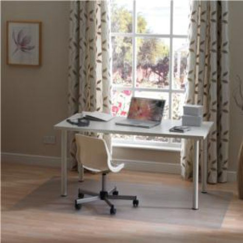Cleartex Valuemat Chair Mat PVC Rectangular For Hard Floors 1200x750mm Clear Ref FC127517EV