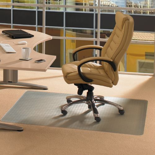 Ecotex Revolutionmat Chair Mat Polymer Rectangular For Carpets 1200x900mm Clear Ref FCECO113648EP