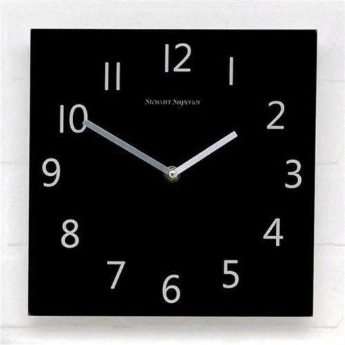 5 Star Facilities Wall Clock Square Face 255x255mm Black