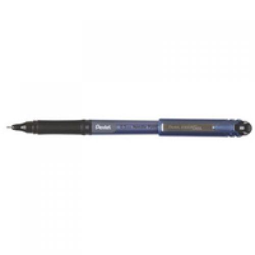Pentel EnerGel Plus Rollerball Fine 0.5mm Tip 0.25mm Line Black Ref BLN25-A [Pack 12]