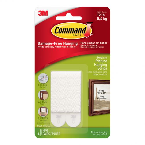 Command Picture Hanging Strips Medium Ref 17201 [Pack 4]