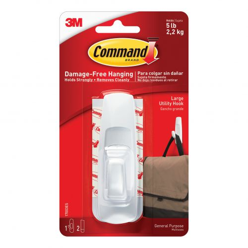 Command Oval Adhesive Single Hook Large Ref 17003