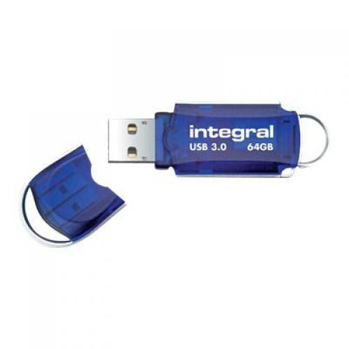 Integral Courier Flash Drive USB 3.0 Blue 64GB Ref INFD64GBCOU3.0