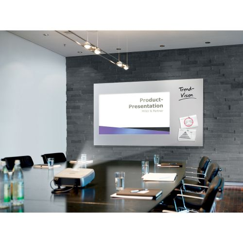 Sigel Artverum High Quality Tempered Glass Magnetic Projection Board 1960x1100mm White GL301